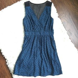 BCBGeneration Blue Polka Dot Dress